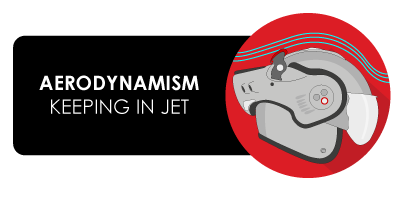 Aerodynamism keeping in jet