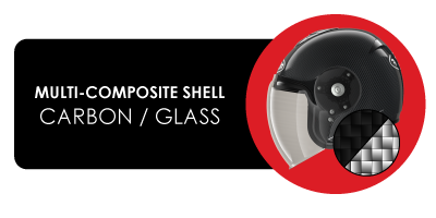 Multi-composite shell Carbon/Glass